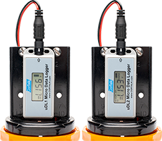 Picture of 2 Mobiltex Dataloggers used for Pipe Integrity Sensing
