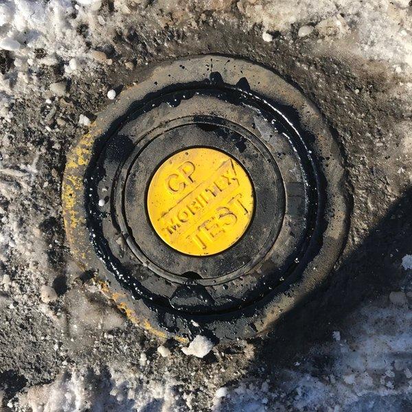 RMU1-SUB unit flush with ground inside test station